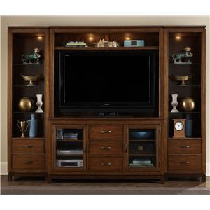 Liberty Furniture Shadow Valley Entertainment Center with Piers