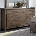 Liberty Furniture Sonoma 8 Drawer Dresser - Item Number: 473-BR31