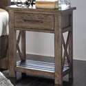 Liberty Furniture Sonoma Road 1 Drawer Night Stand - Item Number: 473-BR62