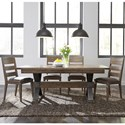 Liberty Furniture Sonoma Road 5 Piece Table and Chair Set  - Item Number: 473-DR-5TRS