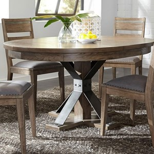 Liberty Furniture Sonoma Road Oval Pedestal Table