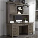 Liberty Furniture Sonoma Road Executive Desk and Hutch - Item Number: GRP-473HO-DESK HUTCH