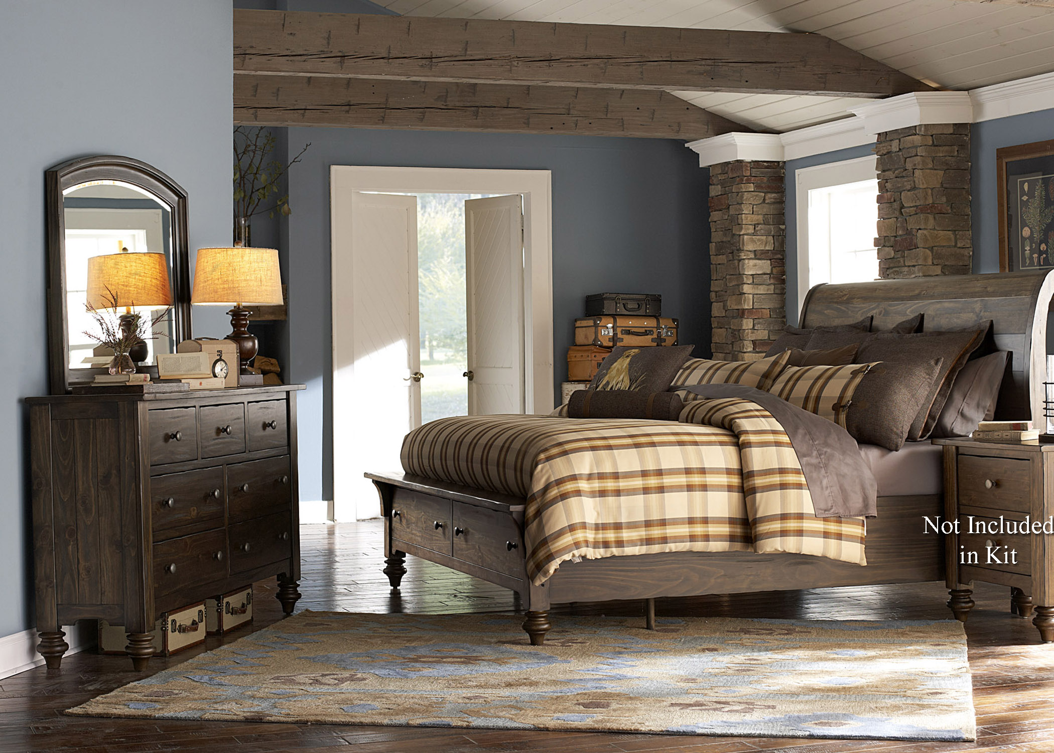 Liberty Furniture Southern Pines Queen Bedroom Group - Item Number: 818-BR-QSBDM