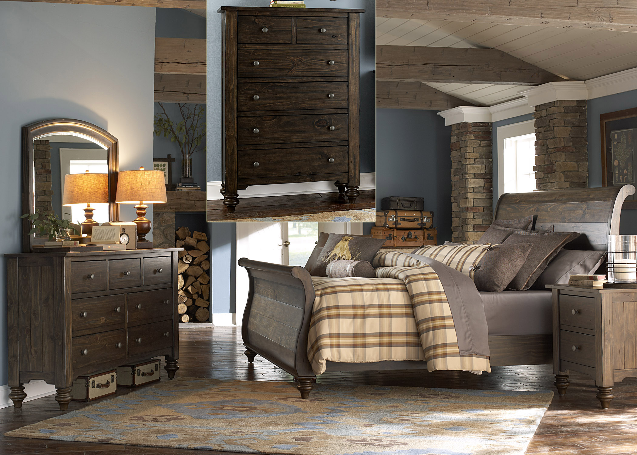 Liberty Furniture Southern Pines Queen Bedroom Group - Item Number: 818-BR-QSLDMCN
