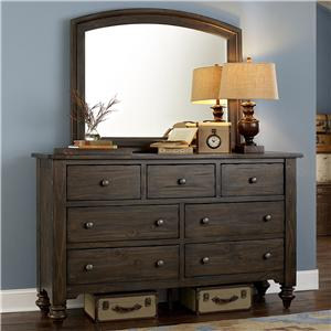 Liberty Furniture Southern Pines Dresser and Mirror