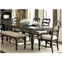 Liberty Furniture Southern Pines Dining Bench with Upholstered Seat