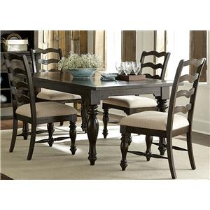 Vendor 5349 Southern Pines 5 Piece Rectangular Table Set