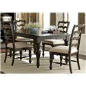Liberty Furniture Southern Pines 5 Piece Rectangular Table Set - Item Number: 818-DR-5RLS
