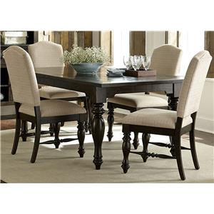 Vendor 5349 Southern Pines Opt 5 Piece Rectangular Table Set