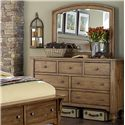 Liberty Furniture Southern Pines Dresser and Mirror  - Item Number: 918-BR-DM