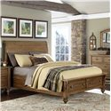 Liberty Furniture Southern Pines Queen Size Sleigh Bed with Storage  - Item Number: 918-BR-QSB