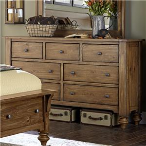 Vendor 5349 Southern Pines 7 Drawer Dresser