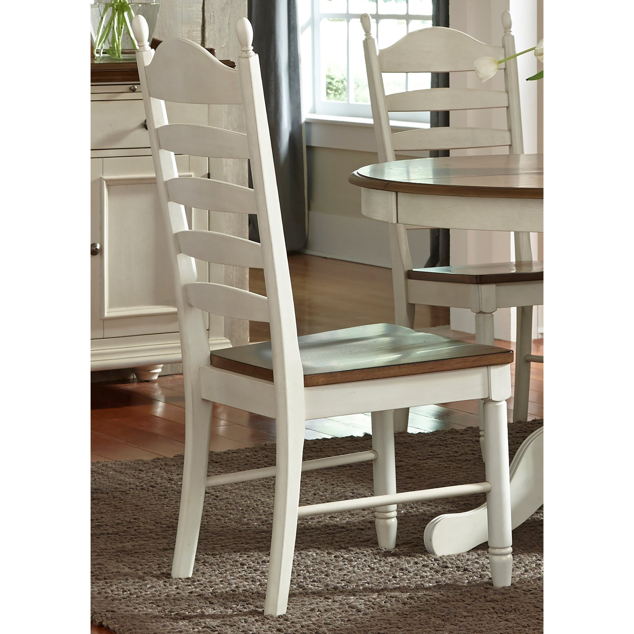 Sarah Randolph Designs Springfield Dining Ladder Back Side Chair - Item Number: 278-C2000S