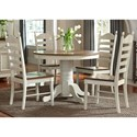 Vendor 5349 Springfield Dining 5 Piece Pedestal Table & Chair Set - Item Number: 278-CD-5PDS