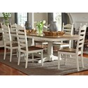 Liberty Furniture Springfield Dining 7 Piece Double Pedestal Table & Chair Set - Item Number: 278-CD-72PS