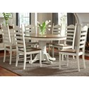 Vendor 5349 Springfield Dining 7 Piece Pedestal Table & Chair Set - Item Number: 278-CD-7PDS