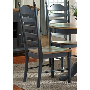 Liberty Furniture Springfield II Dining Ladder Back Side Chair
