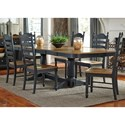 Liberty Furniture Springfield II Dining 7 Piece Double Pedestal Table & Chair Set - Item Number: 678-CD-72PS