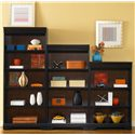 Liberty Furniture St. Ives Traditional 48-Inch Executive Open Bookcase - Shown with 72- and 60-inch Bookcases