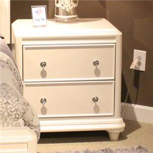 Vendor 5349 Stardust 2 Drawer Night Stand