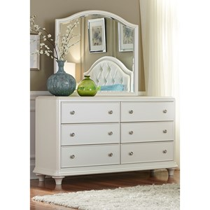 Vendor 5349 Stardust Dresser and Mirror