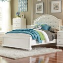 Liberty Furniture Stardust Glam Full Panel Bed with Upholstered Headboard