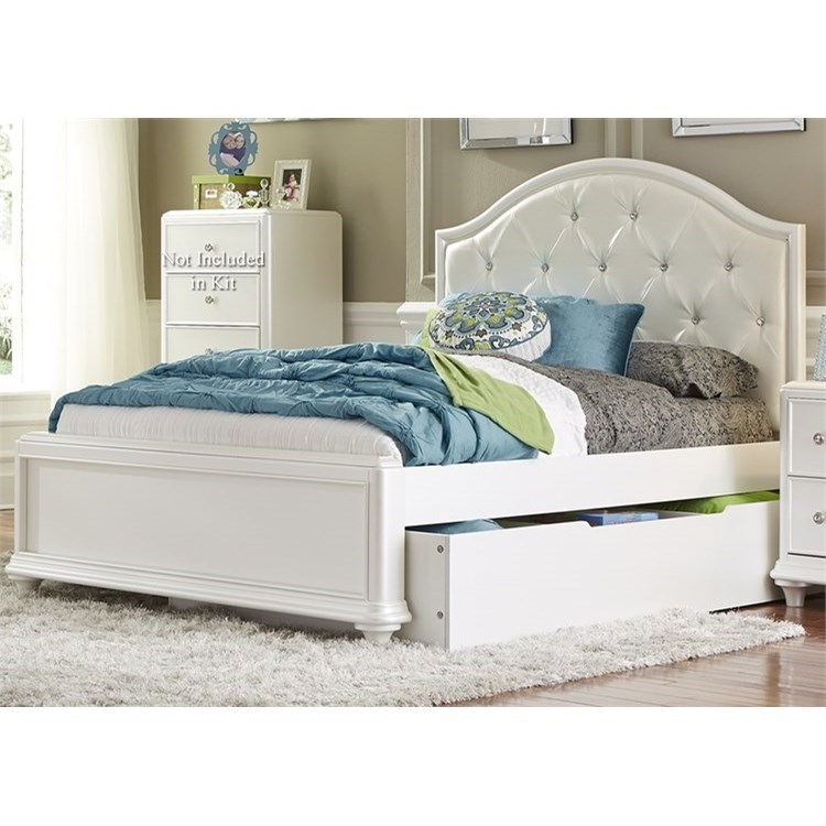 Liberty Furniture Stardust Full Trundle Bed   Item Number: 710 YBR FTR