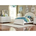 Liberty Furniture Stardust Glam Twin Panel Bed with Upholstered Headboard
