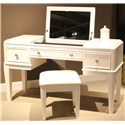 Liberty Furniture Stardust Vanity and Bench - Item Number: 710-YBR-VN