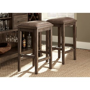 "Liberty Furniture Stone Brook Backless 30"" Stools"
