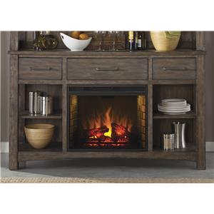 Liberty Furniture Stone Brook Buffet with Fireplace