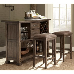Vendor 5349 Stone Brook 3 Piece Bar and Stool Set
