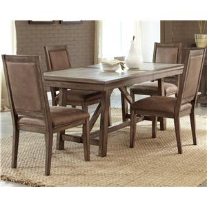 Vendor 5349 Stone Brook 5 Pc Trestle Table Set