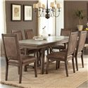 Liberty Furniture Stone Brook 7 Pc Trestle Table Set - Item Number: 466-DR-7TRS
