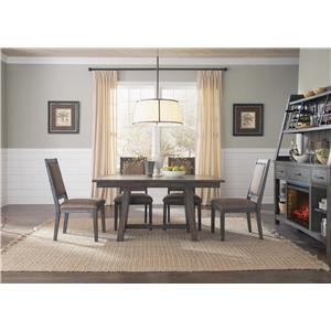 Liberty Furniture Stone Brook Opt 5 Piece Trestle Table Set