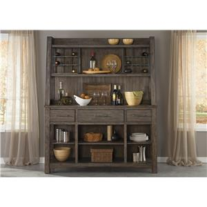 Liberty Furniture Stone Brook Hutch & Buffet