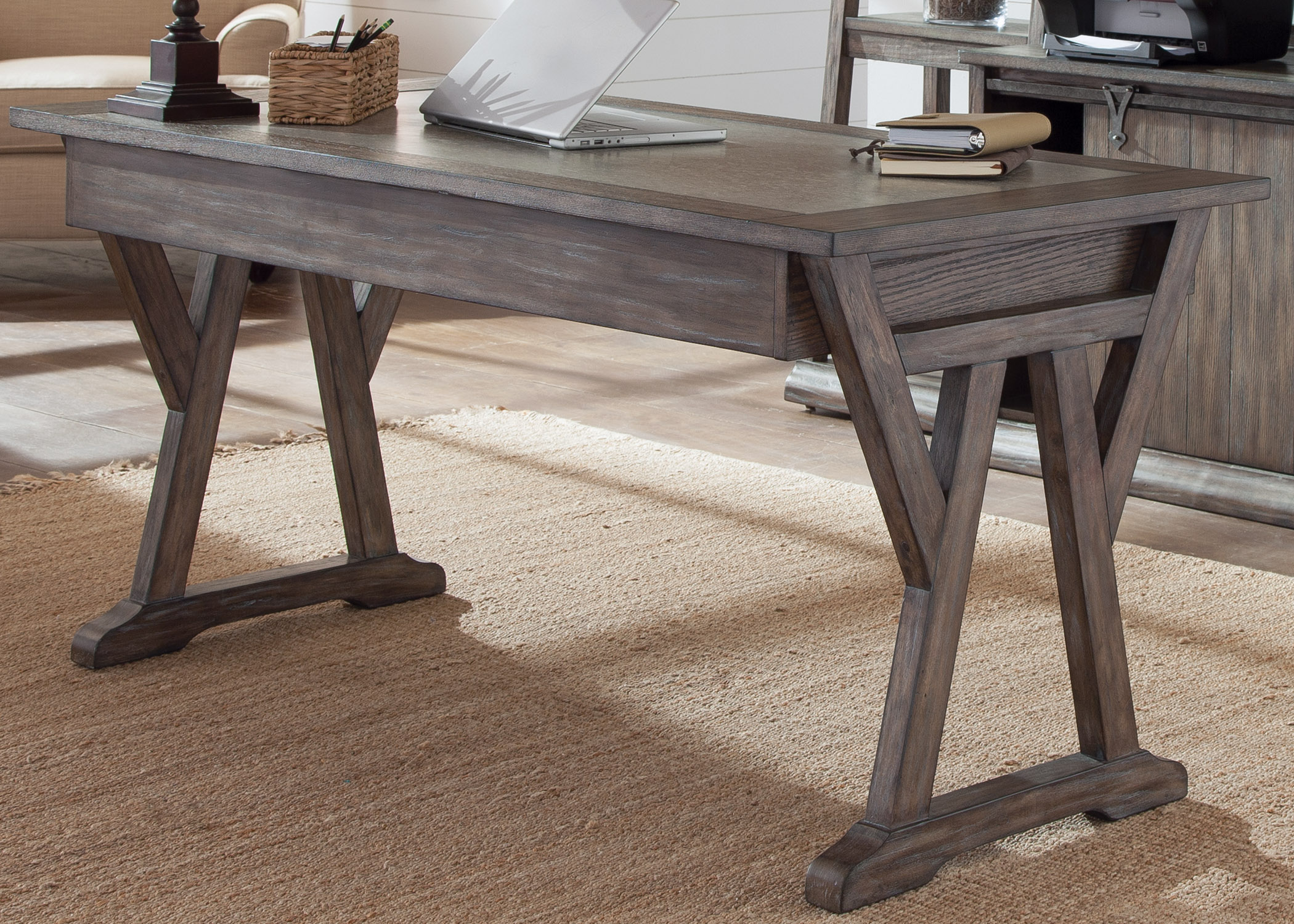 Liberty Furniture Stone Brook Laptop Desk With Double