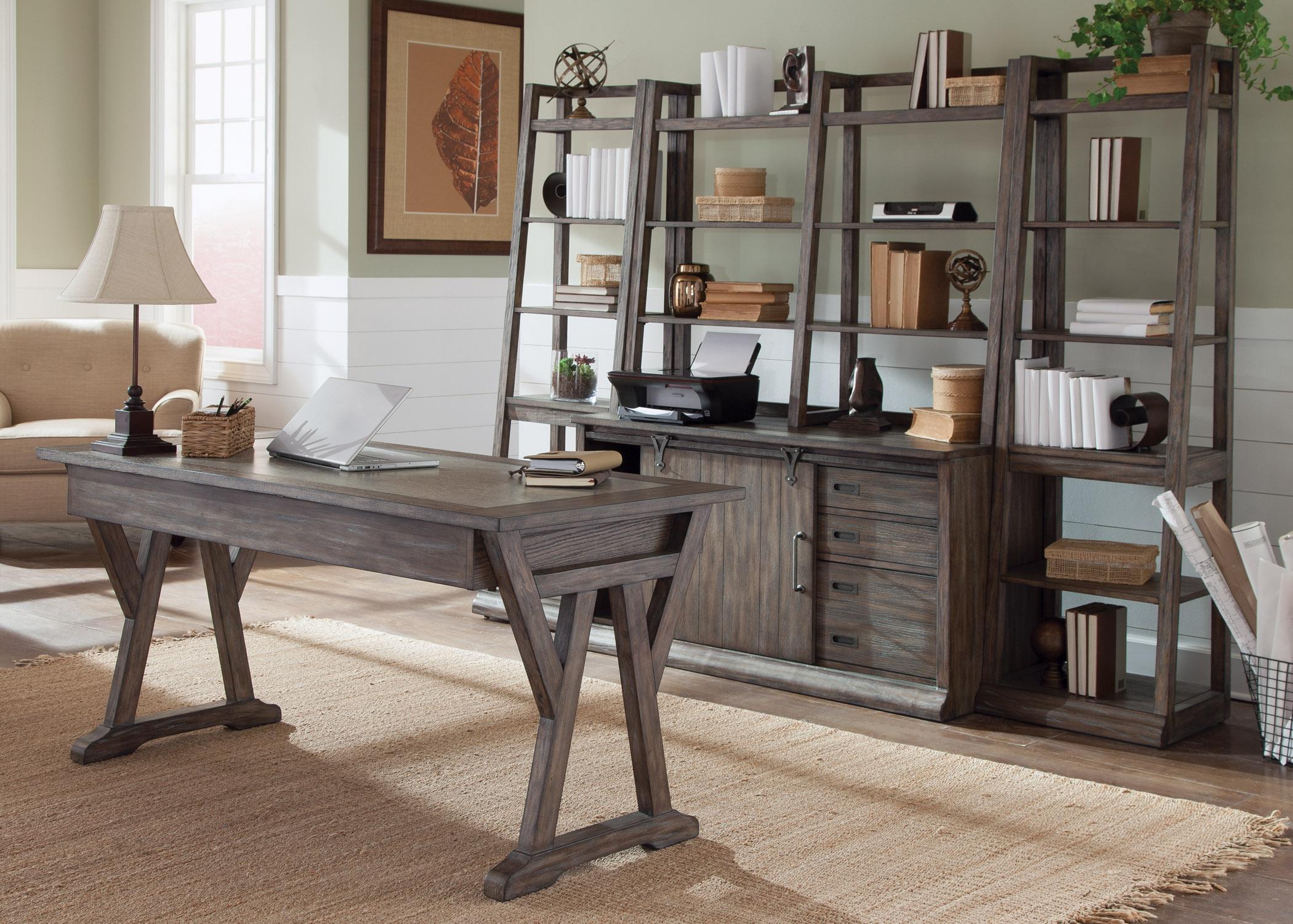 Liberty Furniture Stone Brook 5-Piece Desk - Item Number: 466-HOJ-5PD