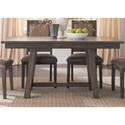 Vendor 5349 Stone Brook Trestle Table with Concrete Insert - Item Number: 466-T3660
