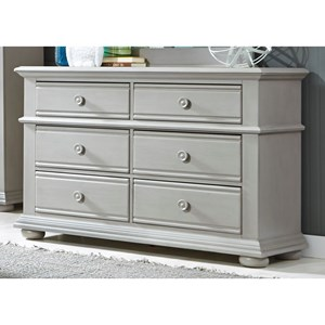 Vendor 5349 Sumer House Youth 6 Drawer Dresser