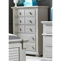 Liberty Furniture Sumer House Youth 5 Drawer Chest - Item Number: 407-BR40