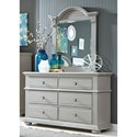 Liberty Furniture Sumer House Youth 6 Drawer Dresser & Mirror  - Item Number: 407-YBR-DM