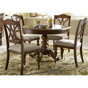 Liberty Furniture Summer House 5 Piece Round Table Set