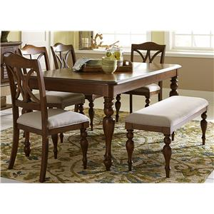 Liberty Furniture Summer House 6 Piece Rectangular Table Set
