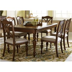 Liberty Furniture Summer House 7 Piece Rectangular Table Set