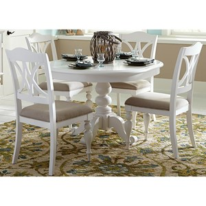 Liberty Furniture Summer House I 5 Piece Pedestal Table Set