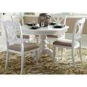 Liberty Furniture Bailey 5 Piece Pedestal Table Set  - Item Number: 607-CD-5PDS