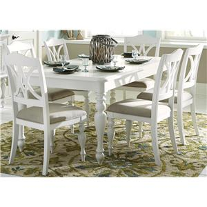 Liberty Furniture Summer House I 7 Piece Rectangular Table Set