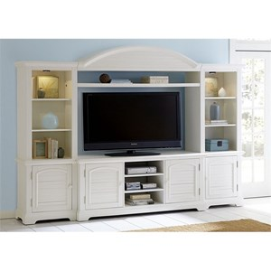Liberty Furniture Summer House Entertainment Center with Piers