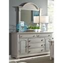 Liberty Furniture Summer House II 5 Drawer Dresser & Mirror  - Item Number: 407-BR-DM